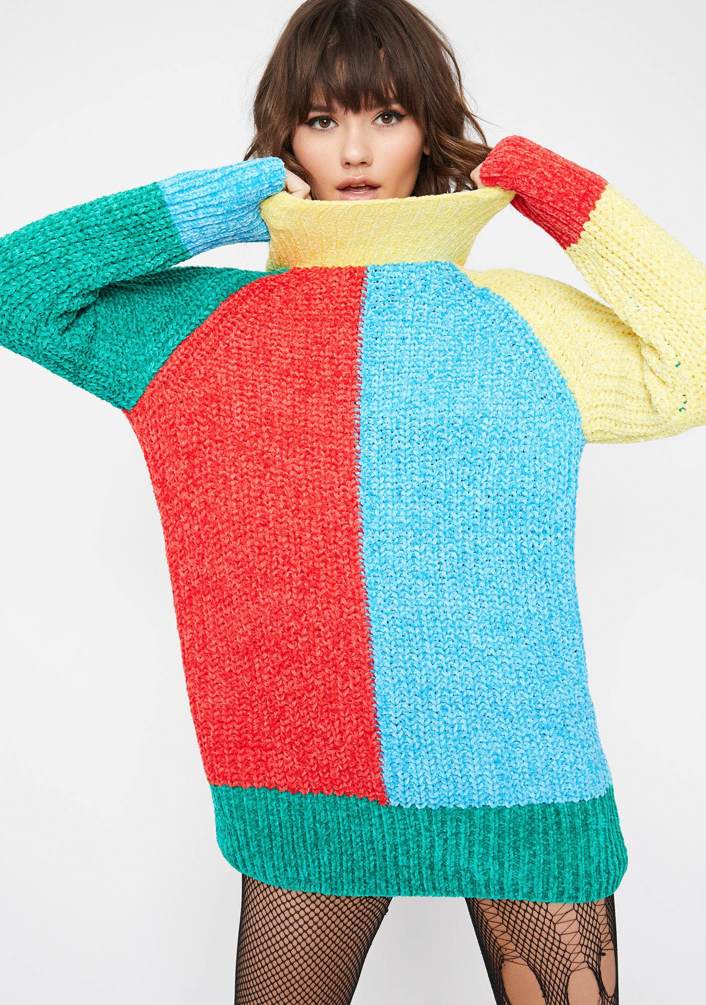 Current Mood Babe Essential Colorblock Sweater