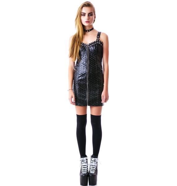 Rock the Skull Zip front Dress