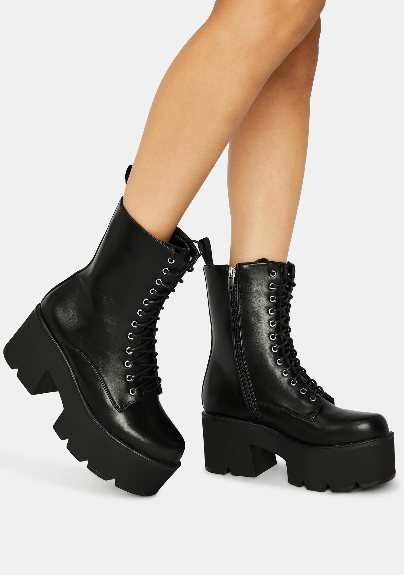 Lamoda Punk Poppin Lace Up Boots