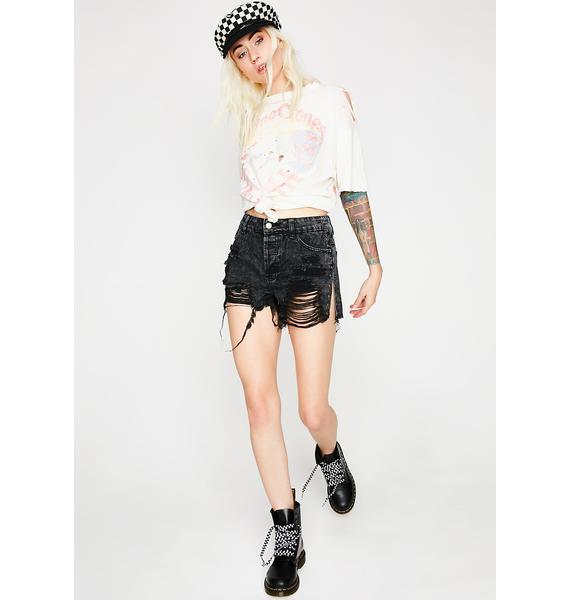 Let'z Shred Denim Shorts
