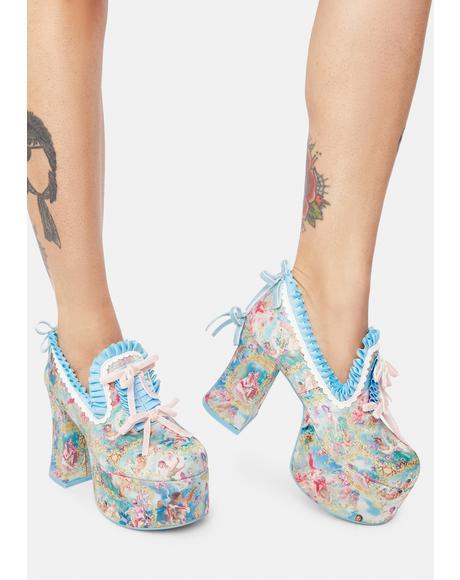Divine Lush Opulence Platform Loafers