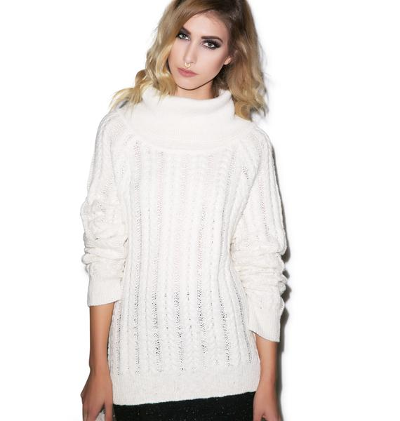 For Love & Lemons Solstice Backless Sweater