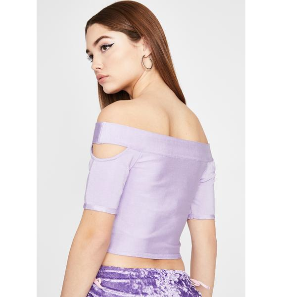 Shopping Spree Cut Out Top