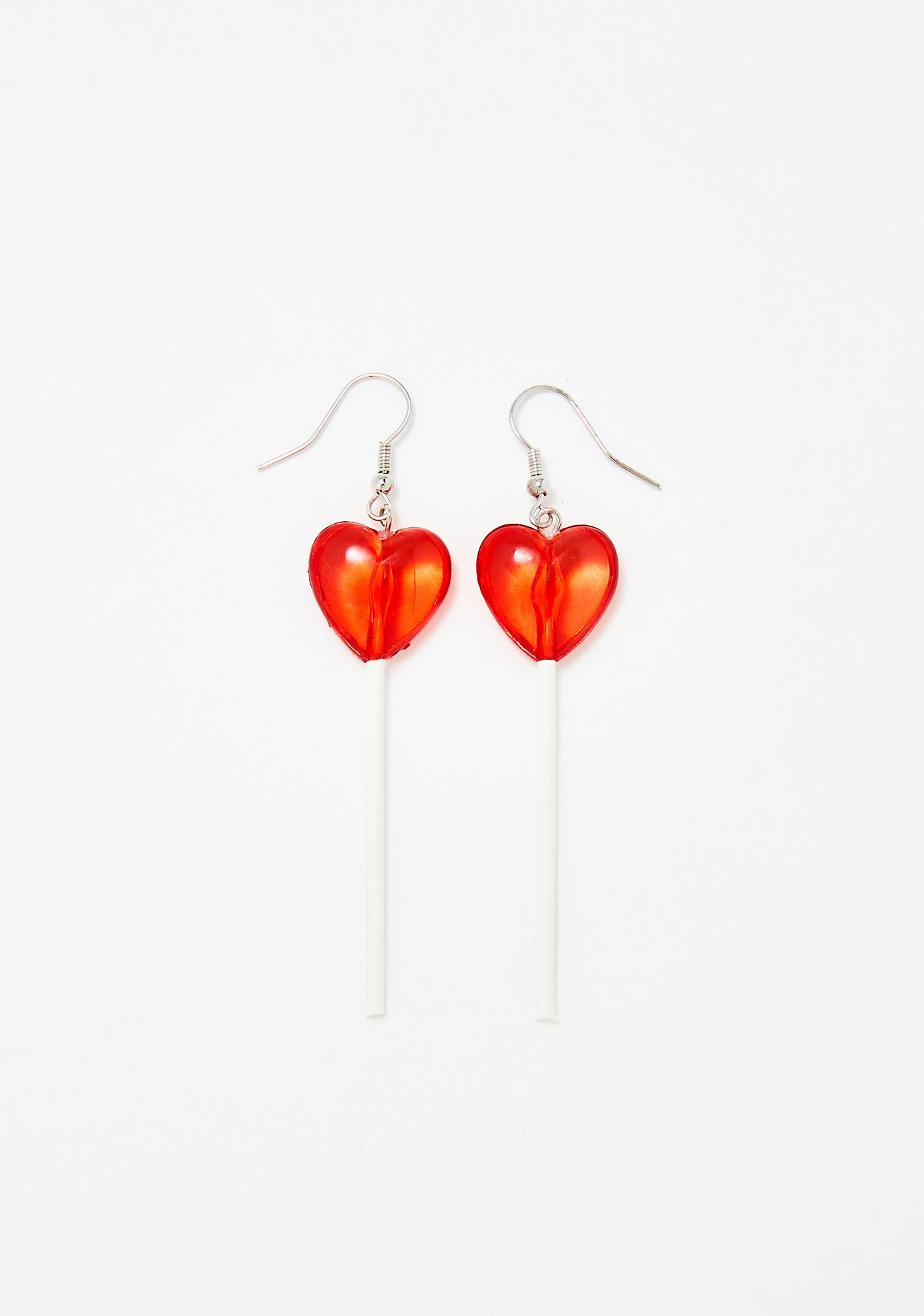 Sweet Heart Lollipop Earrings