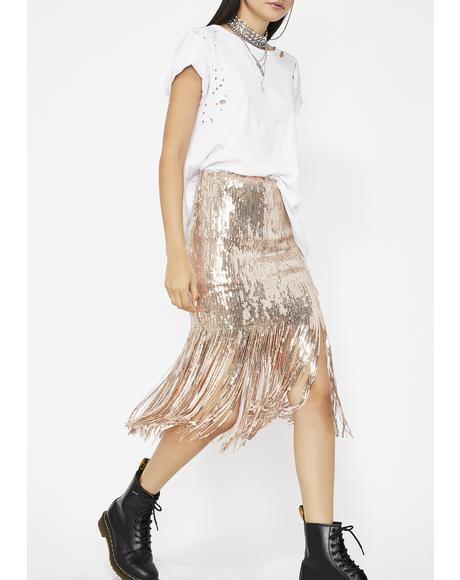 Reflect On This Fringe Skirt