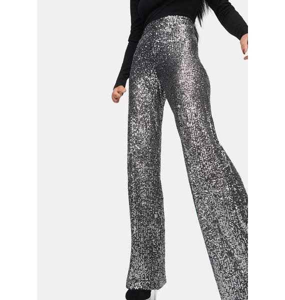 ASTR THE LABEL Selma Sequin Wide Leg Pants