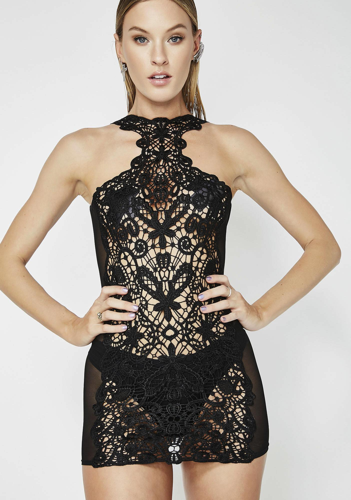 Not Playing Embroidered Lace Chemise