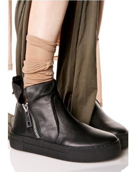 Astin Zip Up Flat Booties