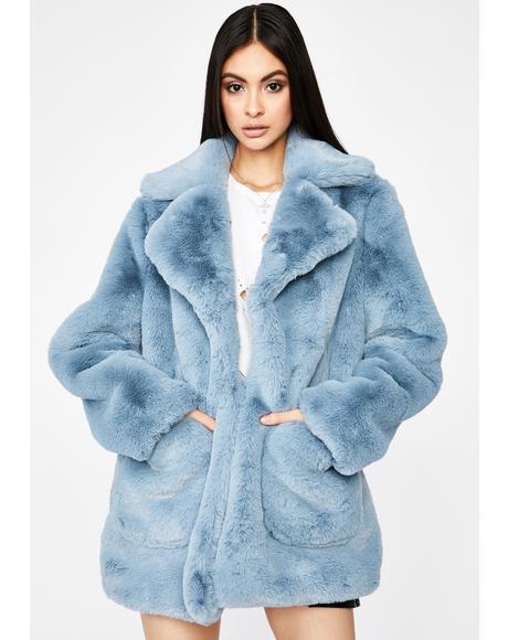 Berry Flossy N' Frosty Faux Fur Jacket