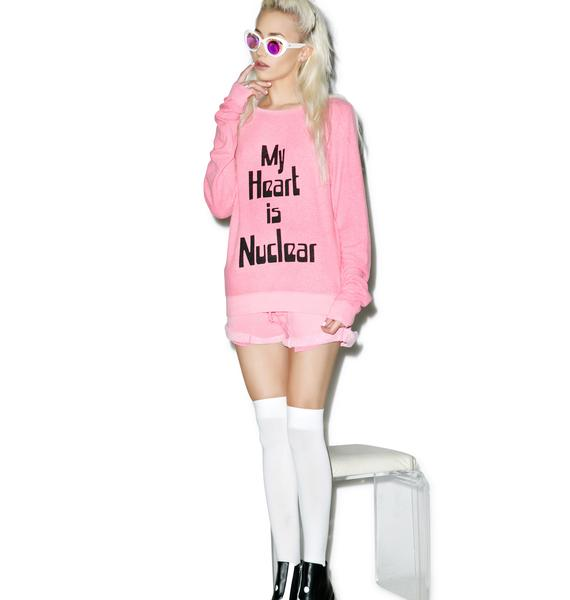 Wildfox Couture My Heart Is Nuclear Baggy Beach Jumper