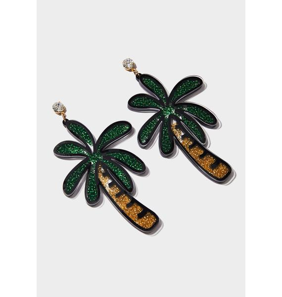 On The Shore Palm Earrings