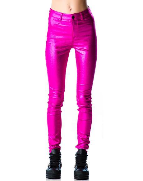 Shimmer Skinny Jeans