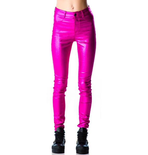 Lip Service Shimmer Skinny Jeans