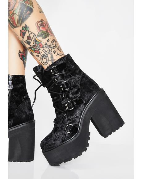Velvet Broom Rider Boots