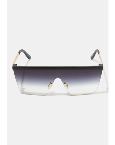 Phoenix Black Shield Sunglasses