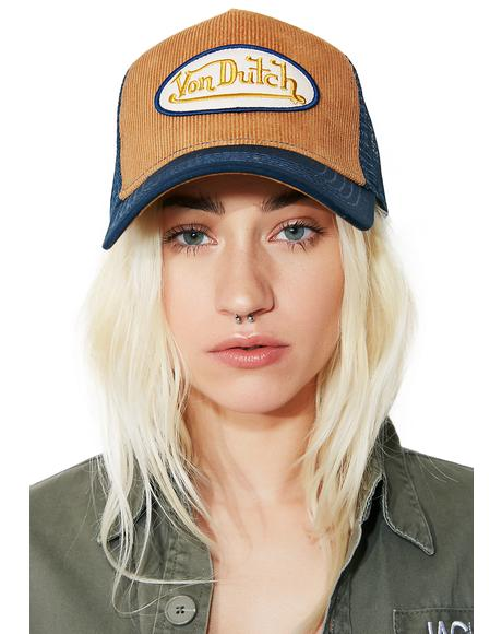 Tan Logo Trucker Hat