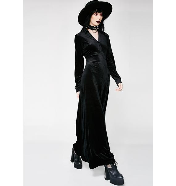 Onyx In Charge Velvet Dress
