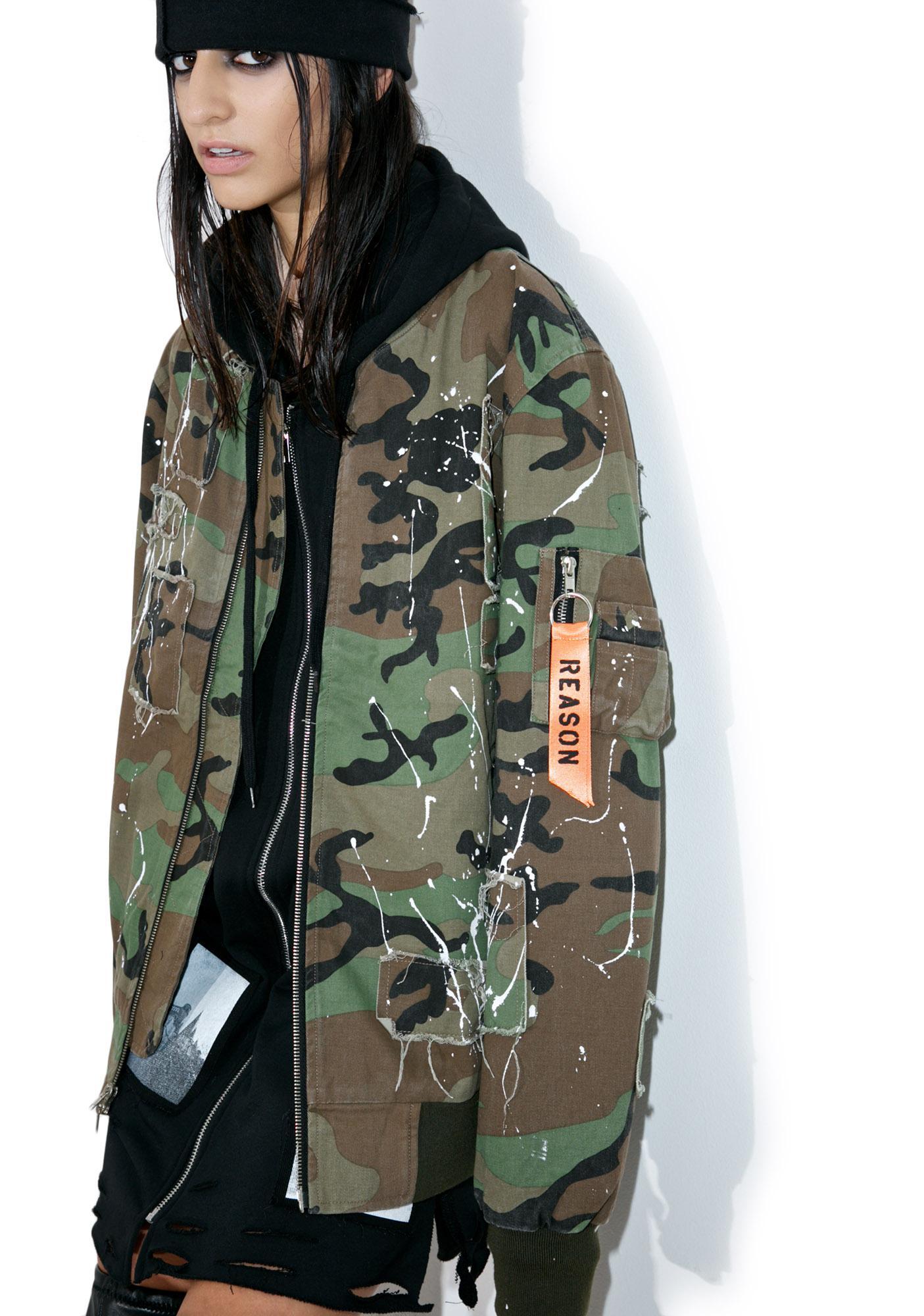 Reason Militia Splatter Bomber Jacket