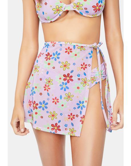 Electric Daisy Aglow Wrap Skirt