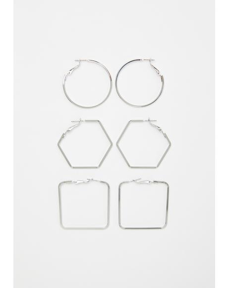 Shape Of You Earring Set