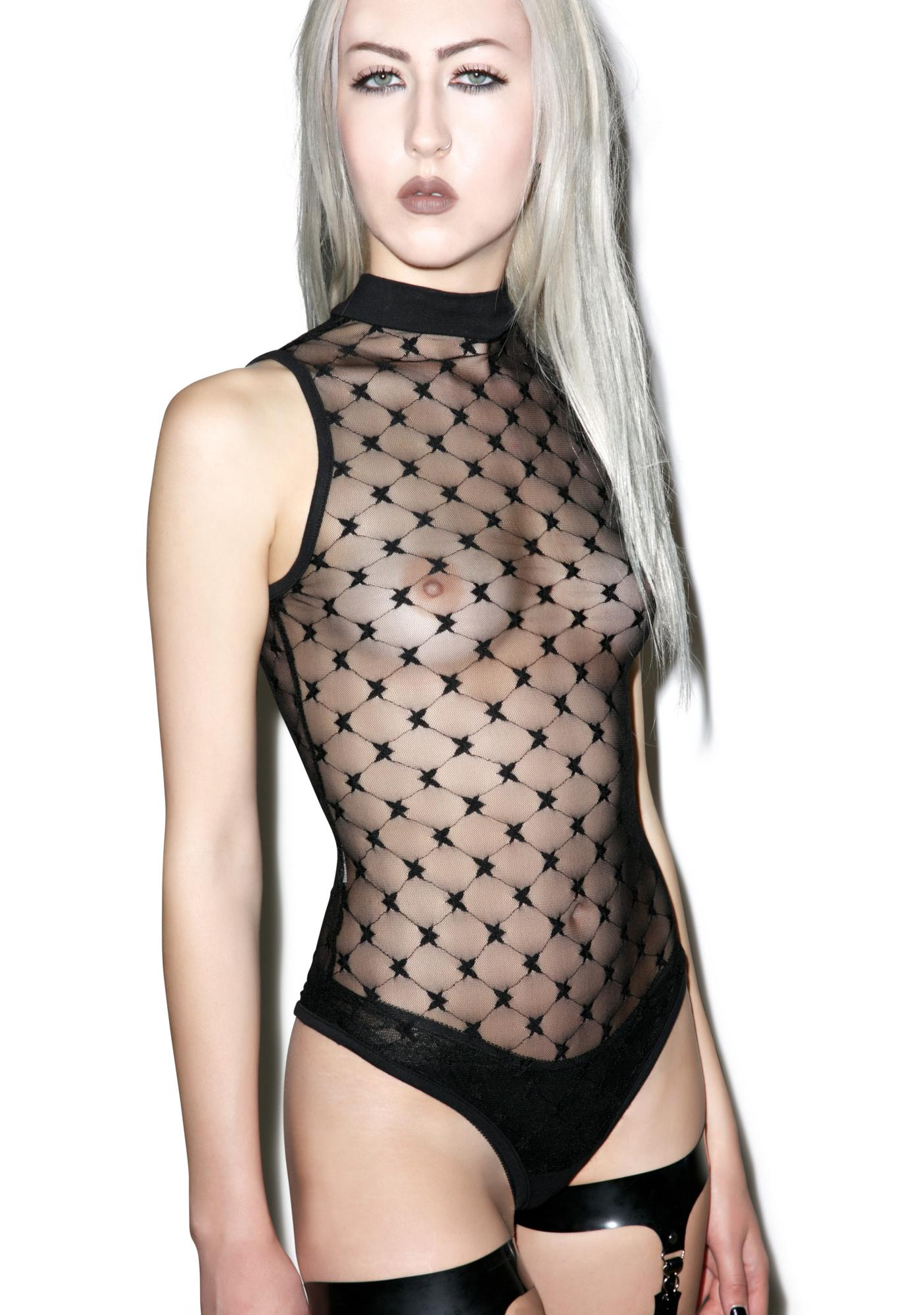 Starry Night Mesh Bodysuit