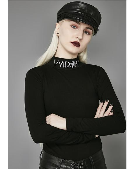Widow Long Sleeve Mock Neck