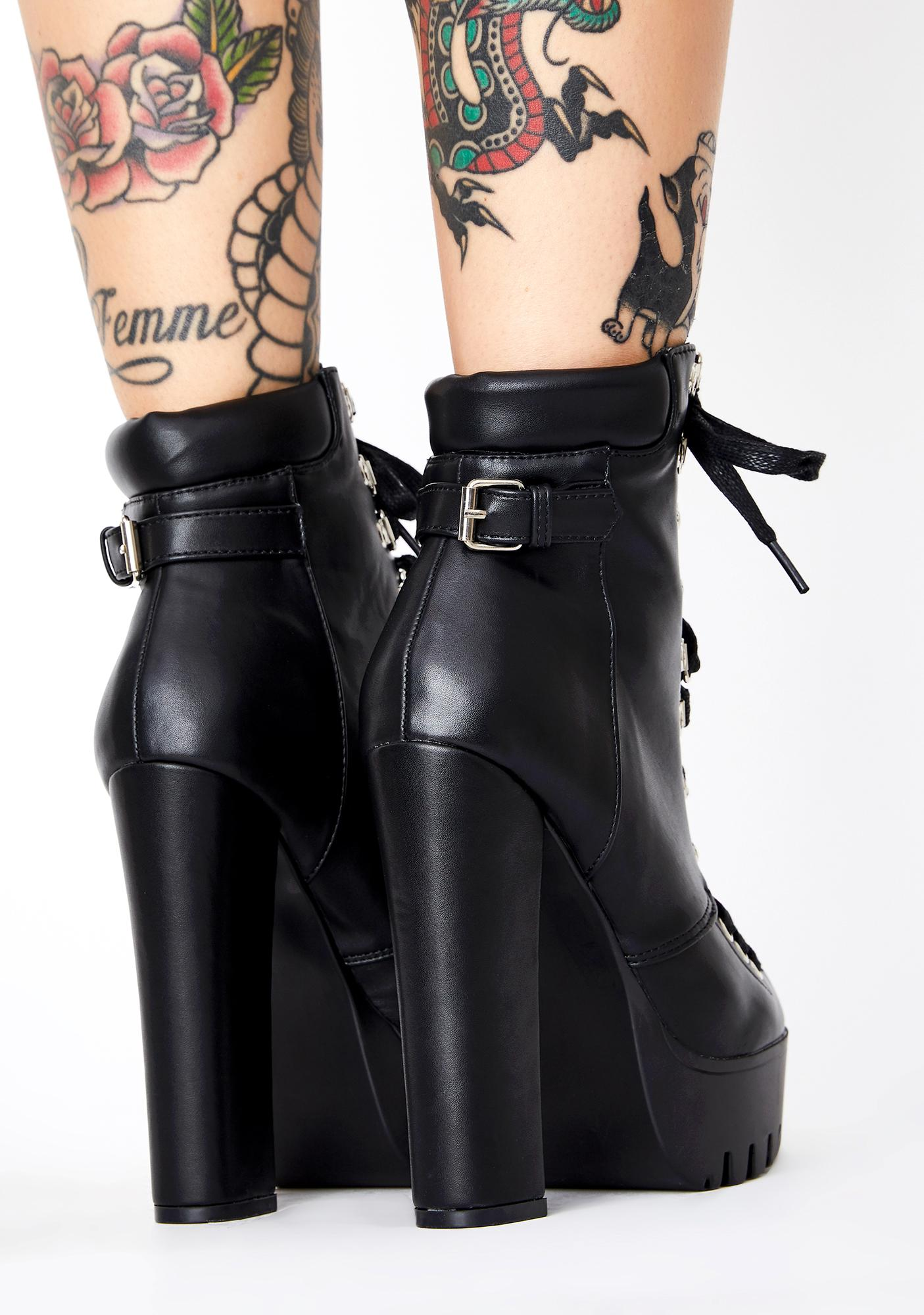 Wicked Intentions Heeled Booties