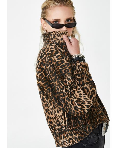 Bad Behavior Leopard Jacket