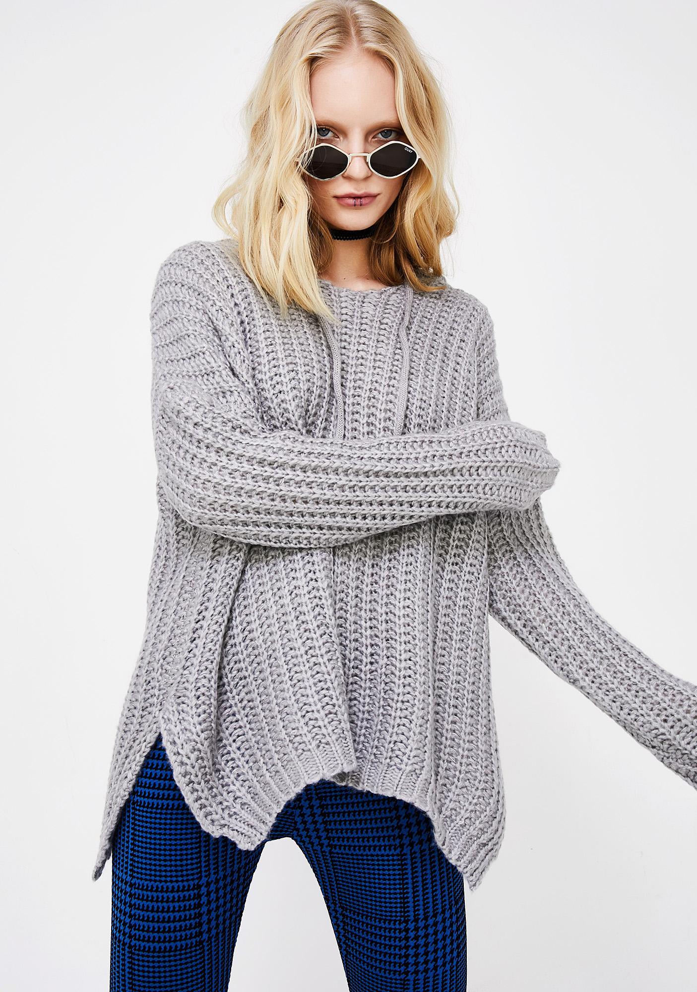 Hooded Knit Sweater | Dolls Kill