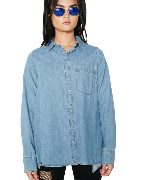 Denim Airy Shirt