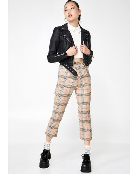 Case Of Senioritis Plaid Trousers