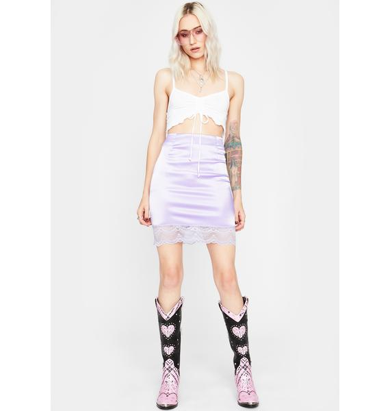 Lavender Pretty Girl Rock Mini Skirt