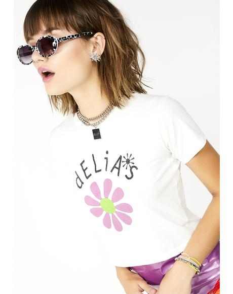 Flower Baby Cropped Tee