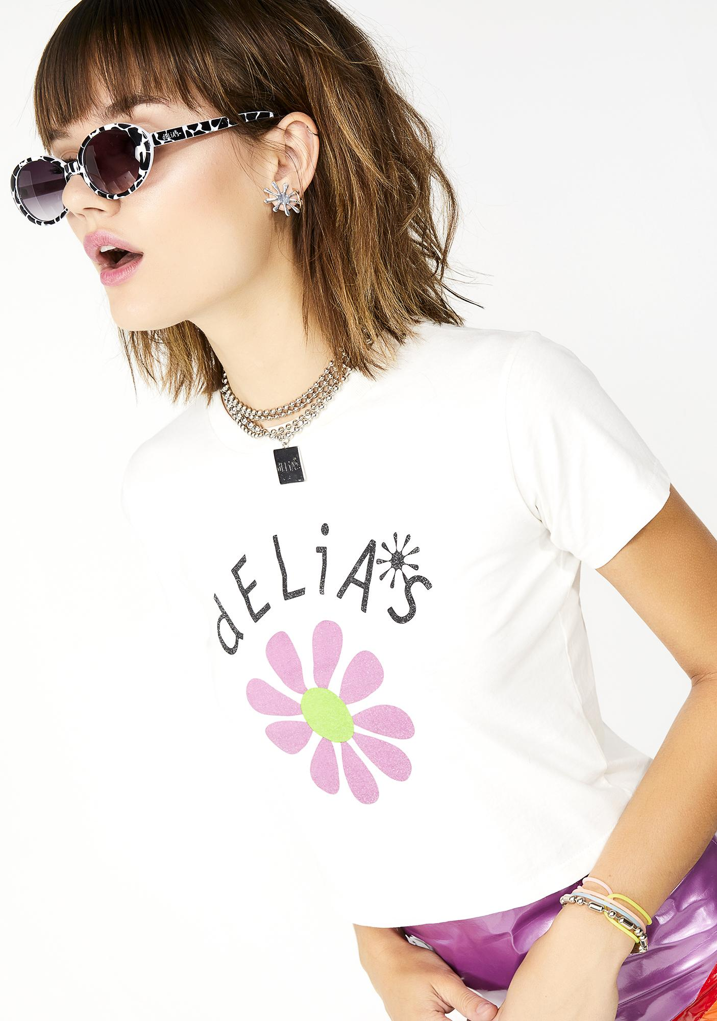 dELiA*s by Dolls Kill Flower Baby Cropped Tee