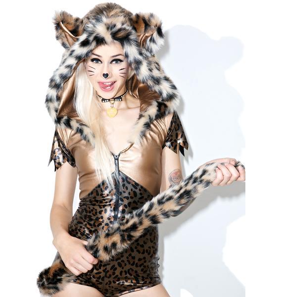J Valentine Bronzed Wildcat Costume