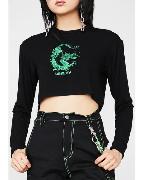 Dragon Girl Crop Top