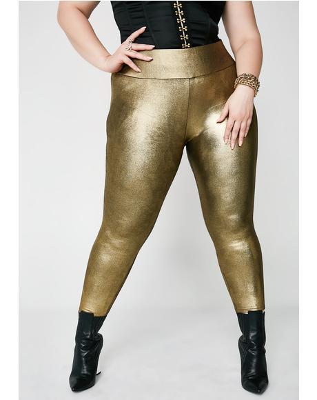 Gold Diggin' Foil Leggings