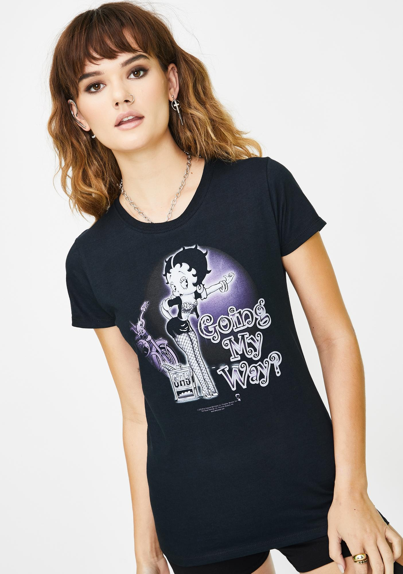 Trevco Betty Boop My Way Graphic Tee
