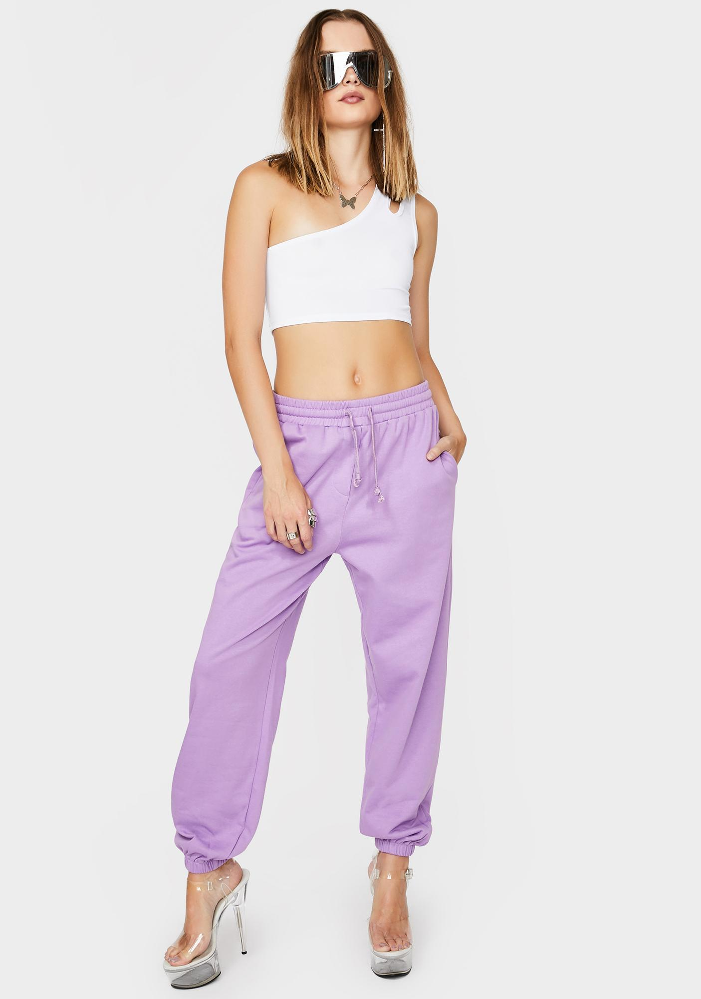 THE KRIPT Purple Ava Track Pants