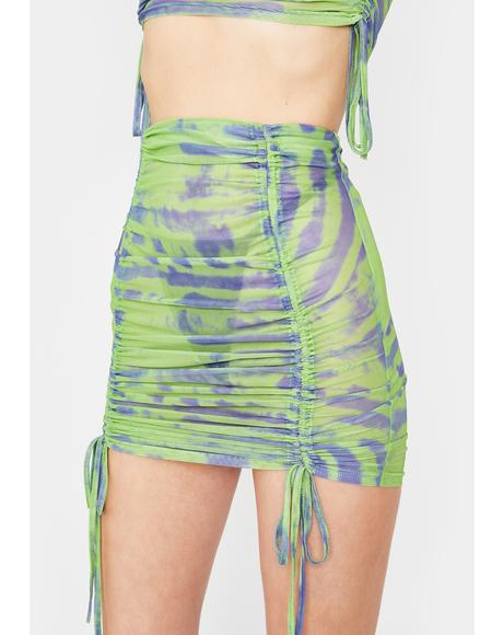 Lime Tough Competition Mesh Skirt