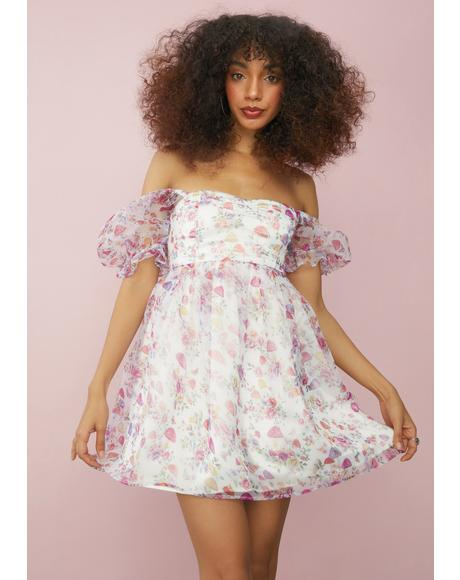 On A Whim Chiffon Babydoll Dress