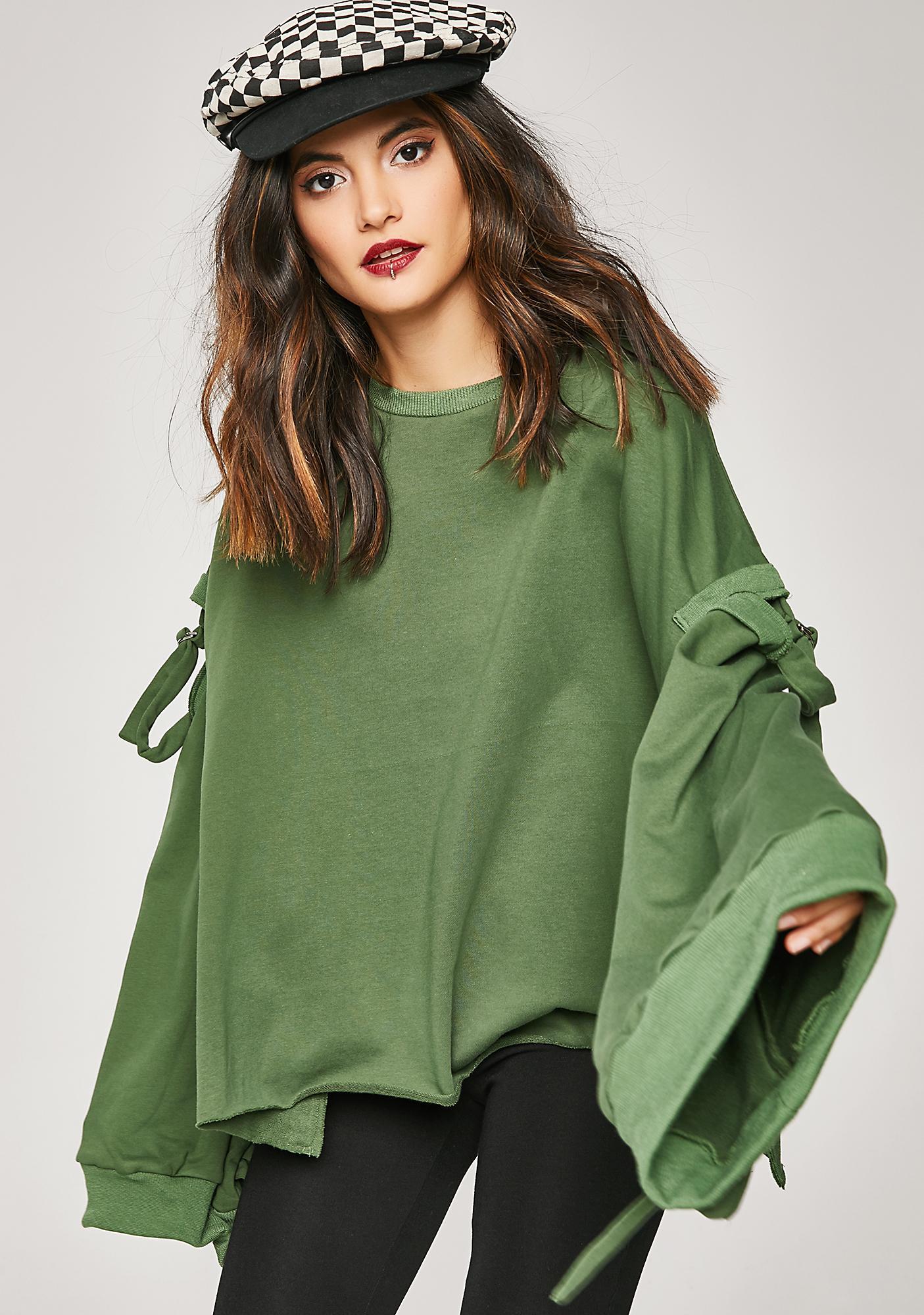 Humble Attitude Cut-Out Sweatshirt