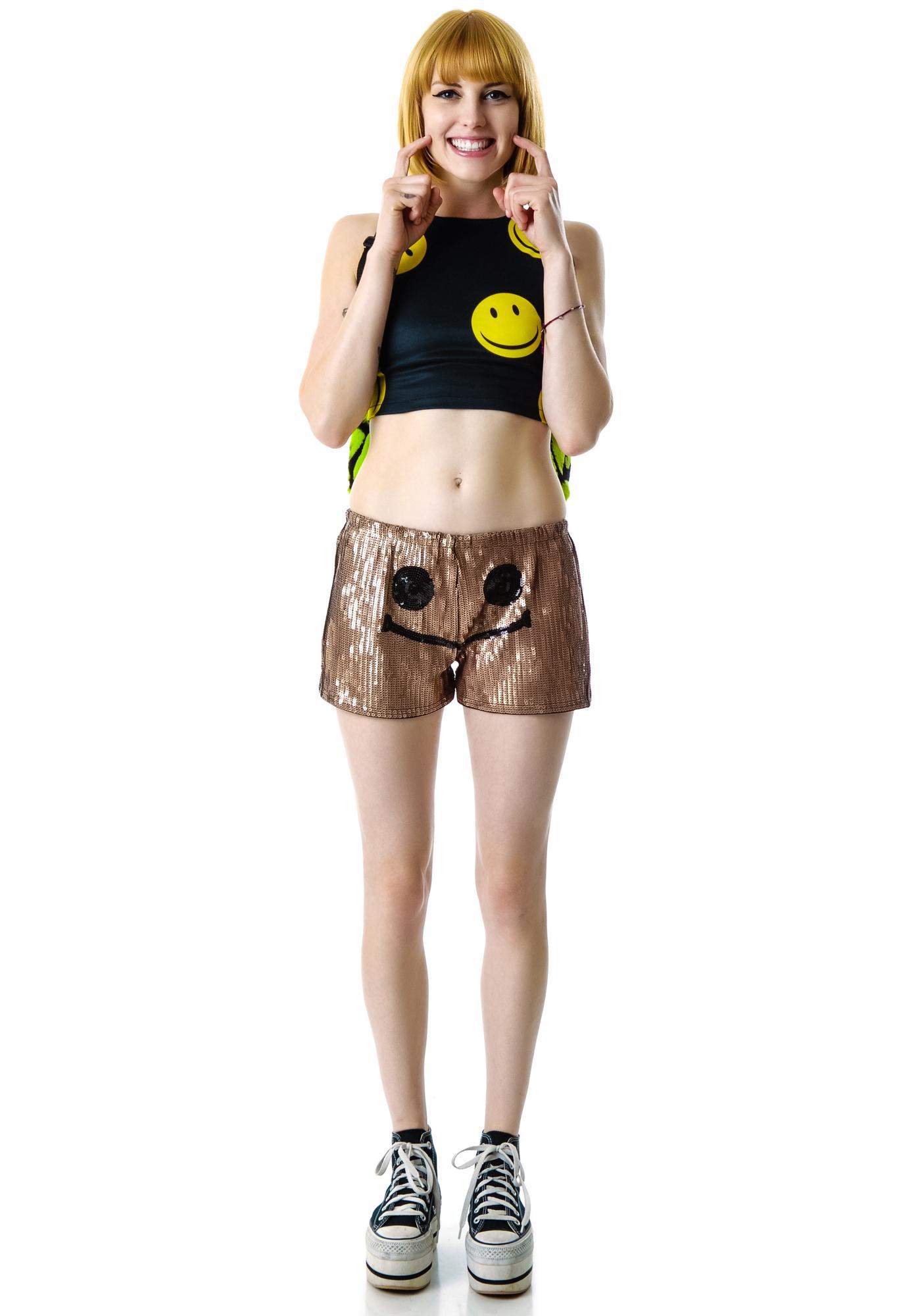 Alix Smiley Sequin Shorts