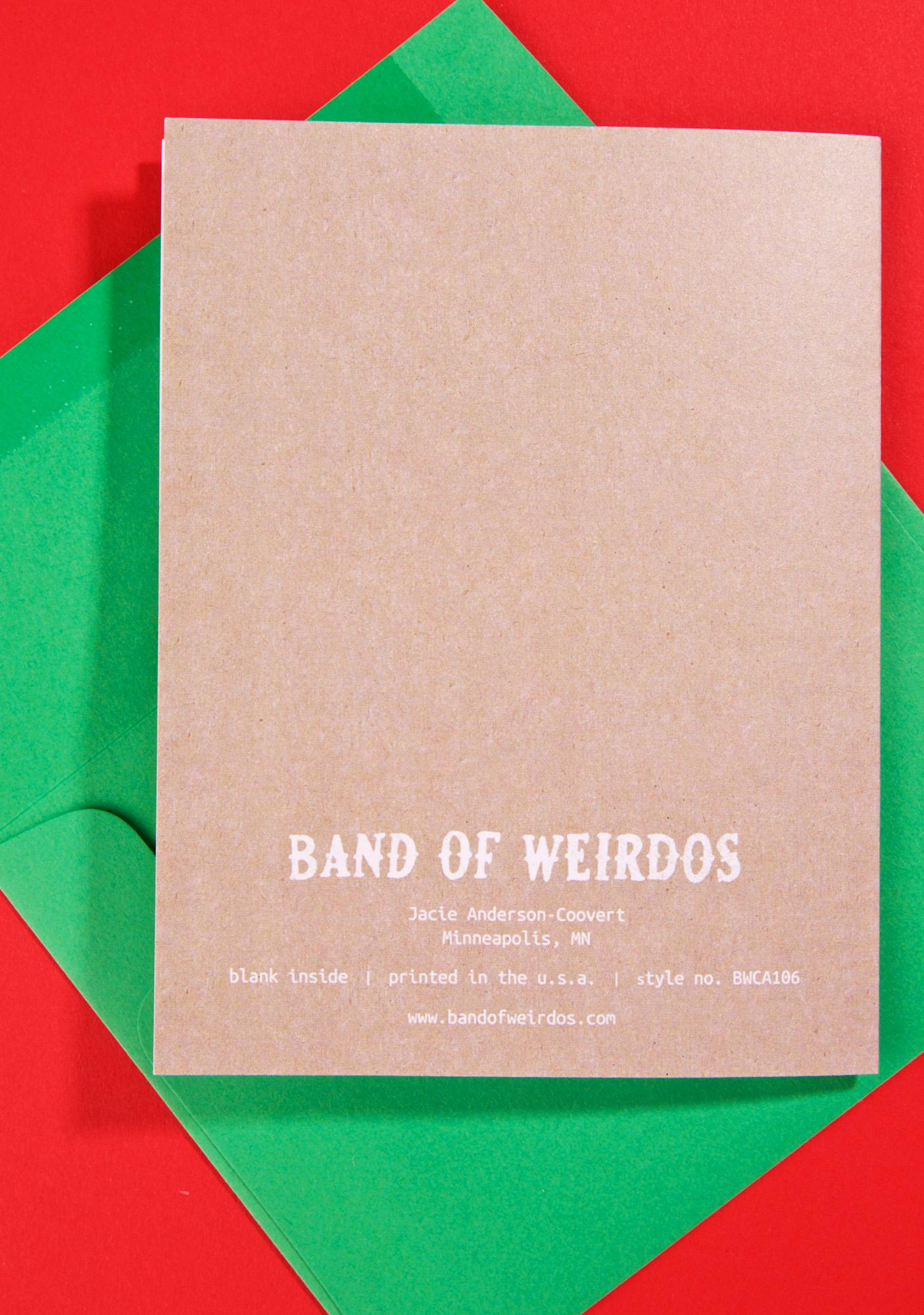 Band of Weirdos Gnome For The Holidays Card