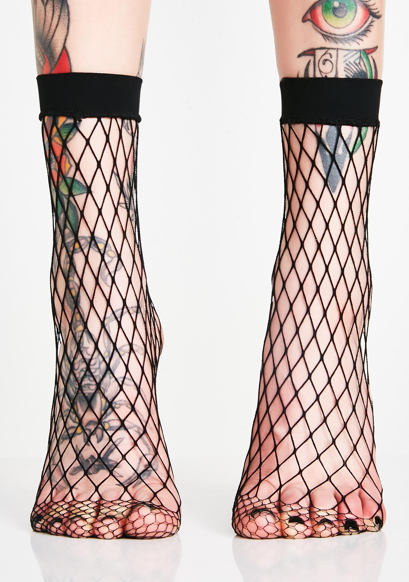 Hooked On Ya Fishnet Socks