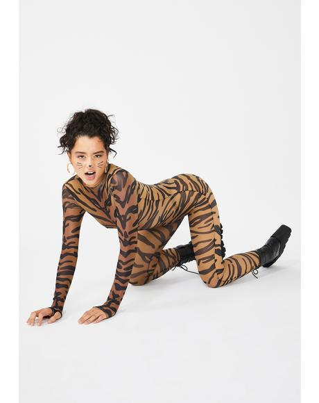 Bad Bish Anthem Tiger Catsuit
