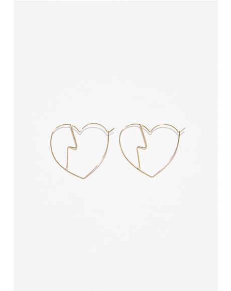 Lil Heartbreaker Hoop Earrings