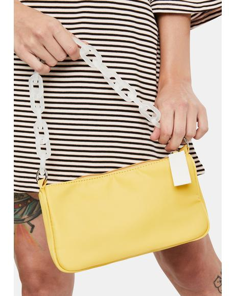Mustard Always Trending Baguette Bag