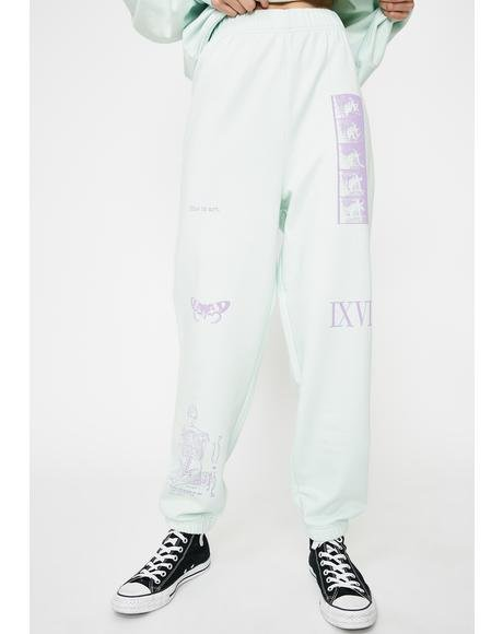 Mixed Art Numerical Jogger Sweatpants