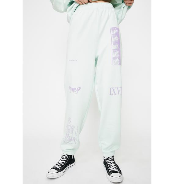 NEW GIRL ORDER Mixed Art Numerical Jogger Sweatpants